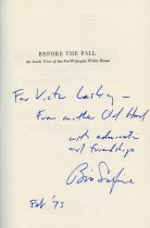 Image of Before the fall :  an inside view of the pre-Watergate  Autograph