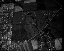 Image of Aerial view Country Club, Center Street, Ashland, Ohio taken June 6, 1960.