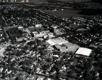 Image of Aerial view Ashland College, Ashland, Ohio taken September 11, 1967.