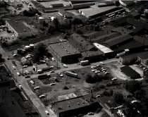Image of Aerial view Eagle Rubber Company, Ashland, Ohio taken September 26, 1968.