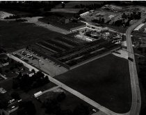 Image of Aerial view Myers Pump Foundry, Ashland, Ohio taken July 11, 1975.