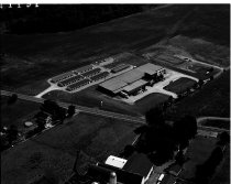 Image of Aerial view Donley Seed Company Ashland, Ohio taken July 11, 1991.