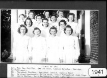 Image of Class Photograph 1941 College of Nursing, Mansfield, Ohio.