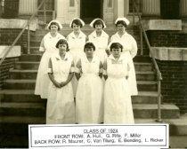 Image of Class Photograph 1924 College of Nursing, Mansfield, Ohio.