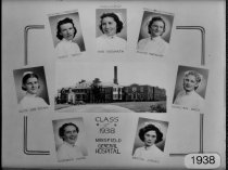 Image of Class Photograph 1938 College of Nursing, Mansfield, Ohio.
