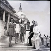 Image of John Ashbrook on the steps of the United States Capital building August 13,
