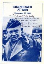 Image of Eisenhower at war 1943-1945.   autograph