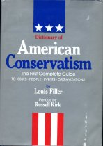 Image of 2011-2814213685 - Dictionary of American conservatism /  by Louis Filler ; preface by Russell Kirk.
