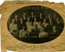 Image of Newclipping showing the class of 1902, Ashland College, Ashland, Ohio.  - Newsclipping