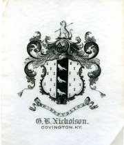 Image of Coat of Arms-G. B. Nicholson.  Covington, KY. - Coat of Arms
