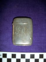 Image of Silver match box. - Objects Collection