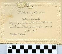 Image of Commencement /Graduation Programs at Ashland College/ Ashland University, Ashland, Ohio 1896  - Printed program