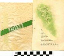 Image of Commencement /Graduation Programs at Ashland College/ Ashland University, Ashland, Ohio 1903  - Printed program