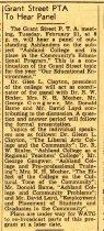 Image of 09-10newspaper19500218 - Newspaper Ashland Times Gazette February 18, 1950 Grant Street PTA to hear panel