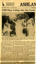 Image of 09-10newspaper19500522 - Newspaper Ashland Times Gazette May 22, 1950 4,000 enjoy college May Day events