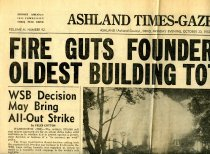 Image of 09-10newspaper19521020 - Newspaper clipping Ashland Times Gazette October 20, 1952