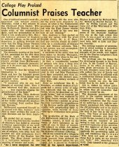 Image of Newspaper clipping Ashland Times Gazette March 27, 1953