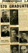 Image of 09-10newspaper19590605 - Newspaper clipping Central Michigan Life (Mt. Pleasant, MI) June 5, 1959  570 Graduate Sunday