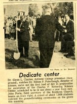 Image of Newspaper clipping Ashland Times Gazette October 5, 1962