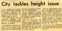 Image of 09-10newspaper19631019 - Newspaper clipping Ashland Times Gazette October 19, 1963  City tackles hieght issue