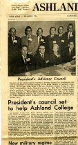 Image of 09-10newspaper19631119 - Newspaper clipping Ashland Times Gazette November 19, 1963  