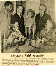 Image of 09-10newspaper19670922 - Newspaper clipping Ashland Times Gazette September 22, 1967    Claytons hold reception