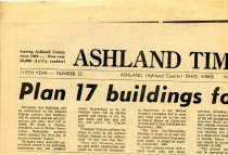 Image of Newspaper clippint Ashland Times Gazette February 8, 1968