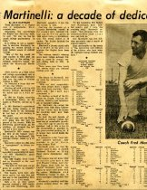 Image of 09-10newspaper19690925 - Newspaper clipping Ashland Times Gazette September 25, 1969  Martinelli: a decade of dedication
