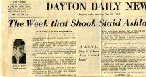 Image of 09-10newspaper19700523 - Newspaper clipping Dayton Daily News May 23, 1970   The week that shood staid Ashland College