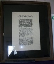 Image of Artwork The Creed of Phi Mu caligraphy.  Phi Mu Sorority Ashland University