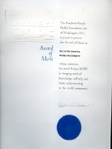 Image of Certificate-Project Hope/ the People-To-People Health Foundation, Inc. of Washington D. C. - Certificate