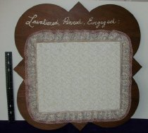 Image of Plaque Phi Mu Chapter Sorority Lavaliered, Pinned, Engaged.  Ashland University, Ashland, Ohio.   - Plaque