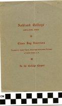 Image of Commencement /Graduation Programs at Ashland College/ Ashland University, Ashland, Ohio 1915 - Printed program