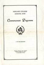 Image of Commencement /Graduation Programs at Ashland College/Ashland University     June 5, 1930  - Printed program