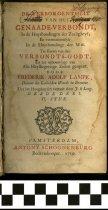 Image of De verborgentheit 1719.     Title page