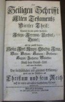 Image of Bible.  German.  Berlenburg.  1726-1742.  Volume Four