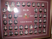 Image of Photographic composite of the 2009 2010 Phi Mu Delta Phi sorority Ashland U