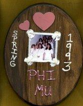 Image of Plaque Spring 1993 pledge class Phi Mu Delta - Plaque