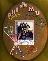 Image of Plaque fall 1994 pledge class Phi Mu Delta