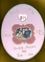 Image of Plaque Fall 1995 pledge class Phi Mu Delta