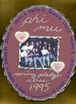 Image of Plaque Spring 1995 pledge class Phi Mu Delta