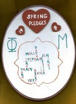 Image of Plaque Spring 1996 pledge class Phi Mu Delta