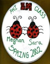 Image of Plaque Spring 2002 pledge class Phi Mu Delta