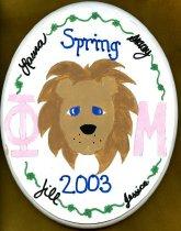 Image of Plaque Spring 2003 pledge class Phi Mu Delta - Plaque