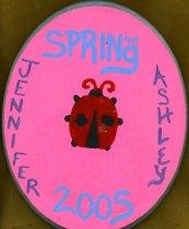 Image of Plaque 2005 pledge class Phi Mu Delta