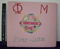 Image of Scrapbook 2007 Phi Mu Delta Sorority Ashland University, Ashland, Ohio.