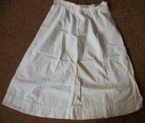 Image of Uniform white cotton apron skirt. - nurses uniform dress