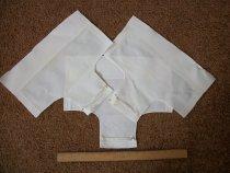 Image of Uniform white cotton cap.  From Bev Galloway Skiles 1970. - nurses uniform dress