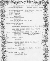 Image of Family tree for Alfred N. Snyder.