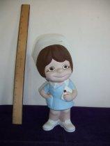 Image of Ceramic doll, nurse. - Doll